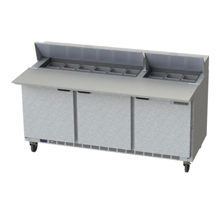 "Beverage Air SPE72HC-18C 72"" Sandwich/Salad Prep Table w/ Refrigerated Base, 115v"