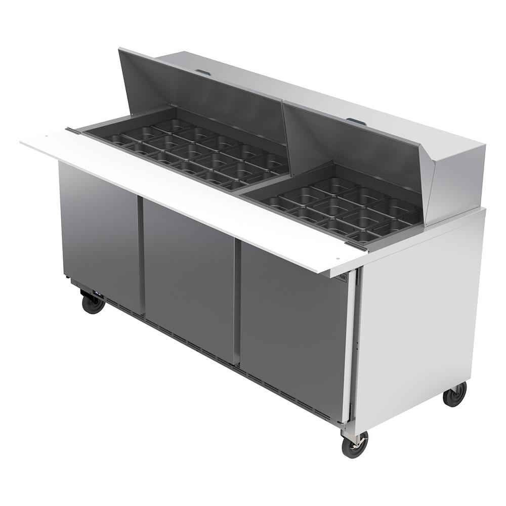 "Beverage Air SPE72HC-30M 72"" Sandwich/Salad Prep Table w/ Refrigerated Base, 115v"