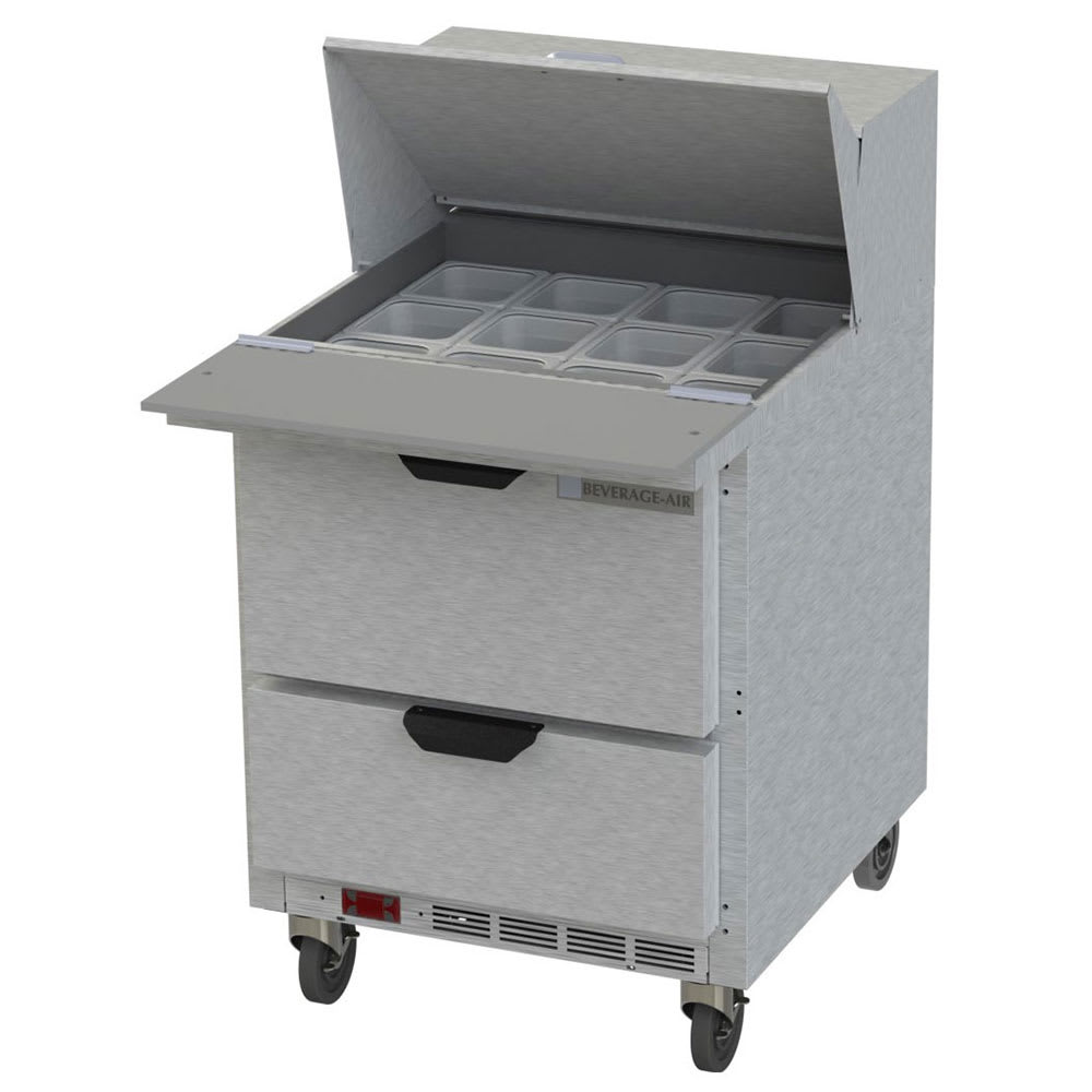 "Beverage Air SPED27HC-12M-B 27"" Sandwich/Salad Prep Table w/ Refrigerated Base, 115v"