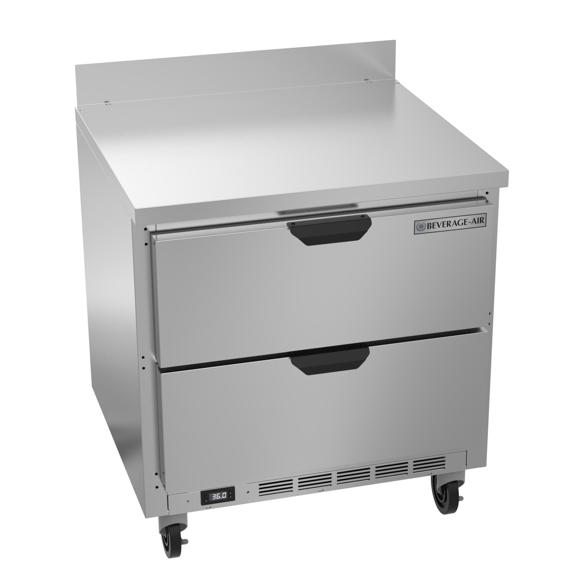 "Beverage Air SPED27HC-B 27"" Sandwich/Salad Prep Table w/ Refrigerated Base, 115v"