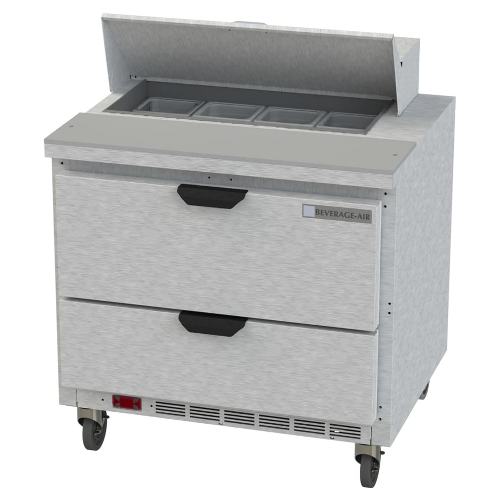 "Beverage Air SPED36HC-08-2 36"" Sandwich/Salad Prep Table w/ Refrigerated Base, 115v"