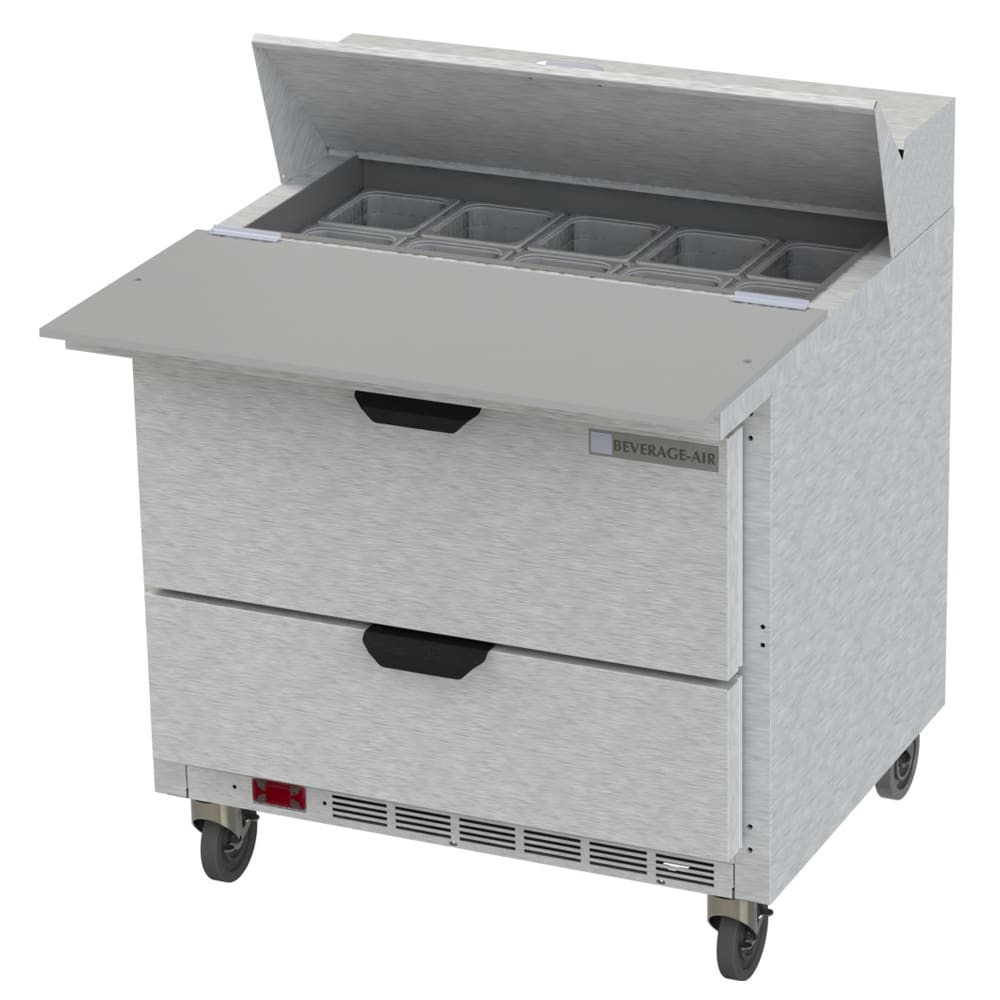 "Beverage Air SPED36HC-10C-2 36"" Sandwich/Salad Prep Table w/ Refrigerated Base, 115v"