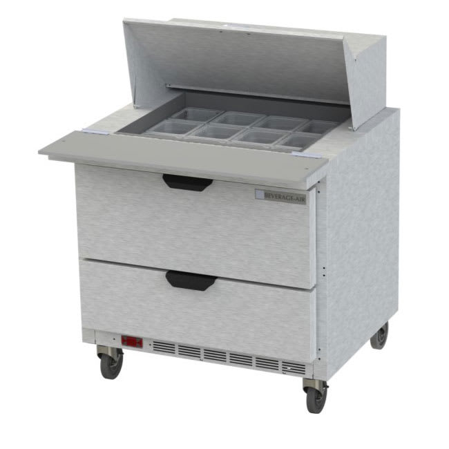 """Beverage Air SPED36HC-12M-2 36"""" Sandwich/Salad Prep Table w/ Refrigerated Base, 115v"""