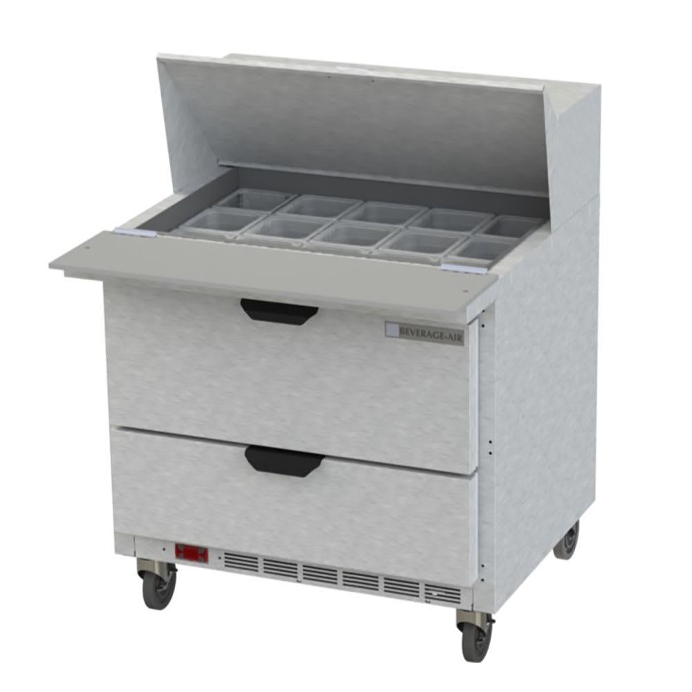 "Beverage Air SPED36HC-15M-2 36"" Sandwich/Salad Prep Table w/ Refrigerated Base, 115v"