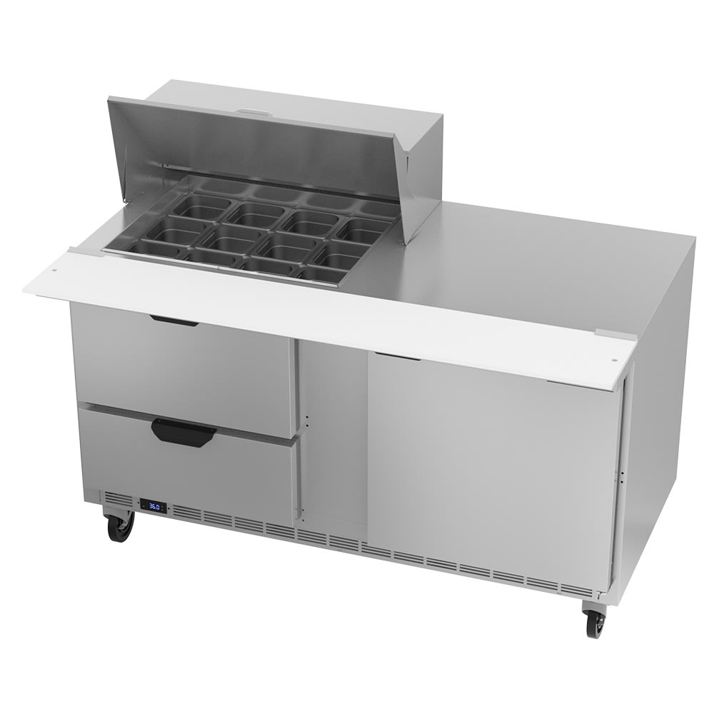 "Beverage Air SPED60HC-12M-2 60"" Sandwich/Salad Prep Table w/ Refrigerated Base, 115v"