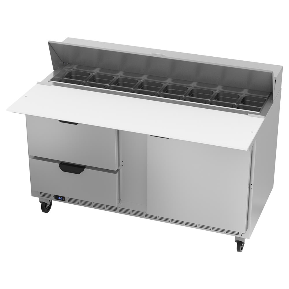 "Beverage Air SPED60HC-16C-2 60"" Sandwich/Salad Prep Table w/ Refrigerated Base, 115v"