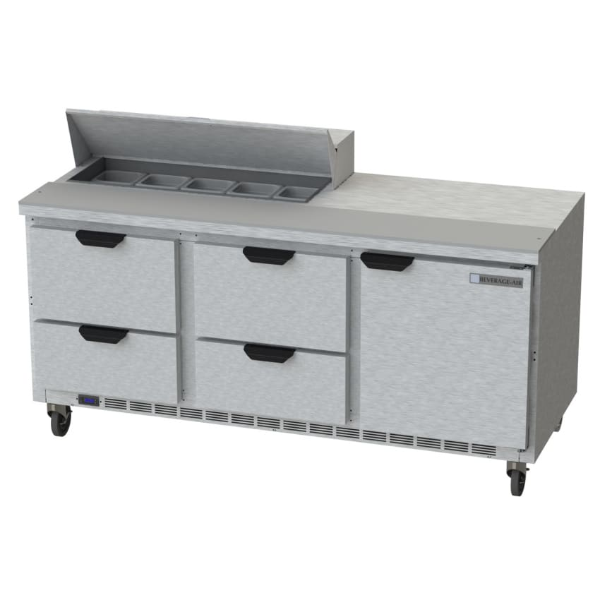 "Beverage Air SPED72HC-10-4 72"" Sandwich/Salad Prep Table w/ Refrigerated Base, 115v"