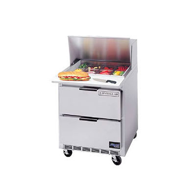"""Beverage Air SPEDP27-12M-A 27"""" Sandwich/Salad Prep Table w/ Refrigerated Base, 115v"""