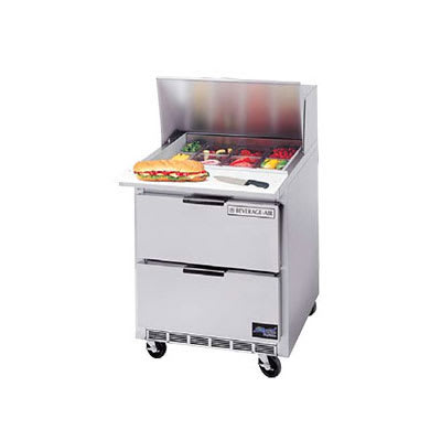 "Beverage Air SPEDP27-B 27"" Sandwich/Salad Prep Table w/ Refrigerated Base, 115v"