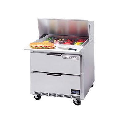 "Beverage Air SPEDP36-08C 36"" Sandwich/Salad Prep Table w/ Refrigerated Base, 115v"
