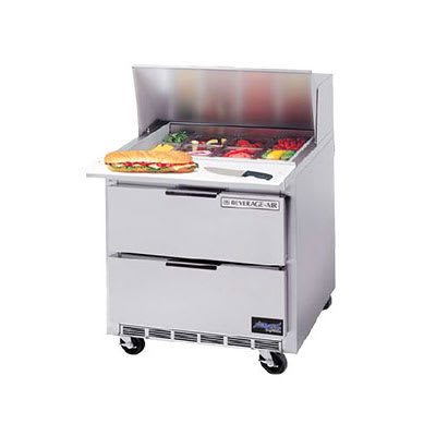 "Beverage Air SPEDP36-10 36"" Sandwich/Salad Prep Table w/ Refrigerated Base, 115v"