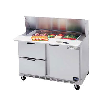 """Beverage Air SPEDP48-12-2 48"""" Sandwich/Salad Prep Table w/ Refrigerated Base, 115v"""