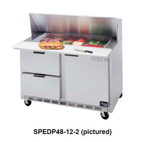 "Beverage Air SPEDP48-12C-4 48"" Sandwich/Salad Prep Table w/ Refrigerated Base, 115v"