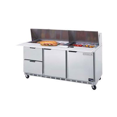 "Beverage Air SPEDP72-18C-2 72"" Sandwich/Salad Prep Table w/ Refrigerated Base, 115v"