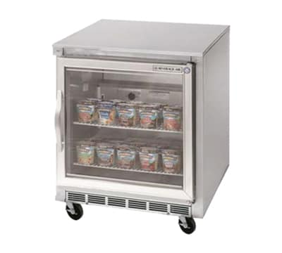 "Beverage Air UCF27A-25 27"" Undercounter Reach In Freezer - 7.3-cu ft, Stainless"