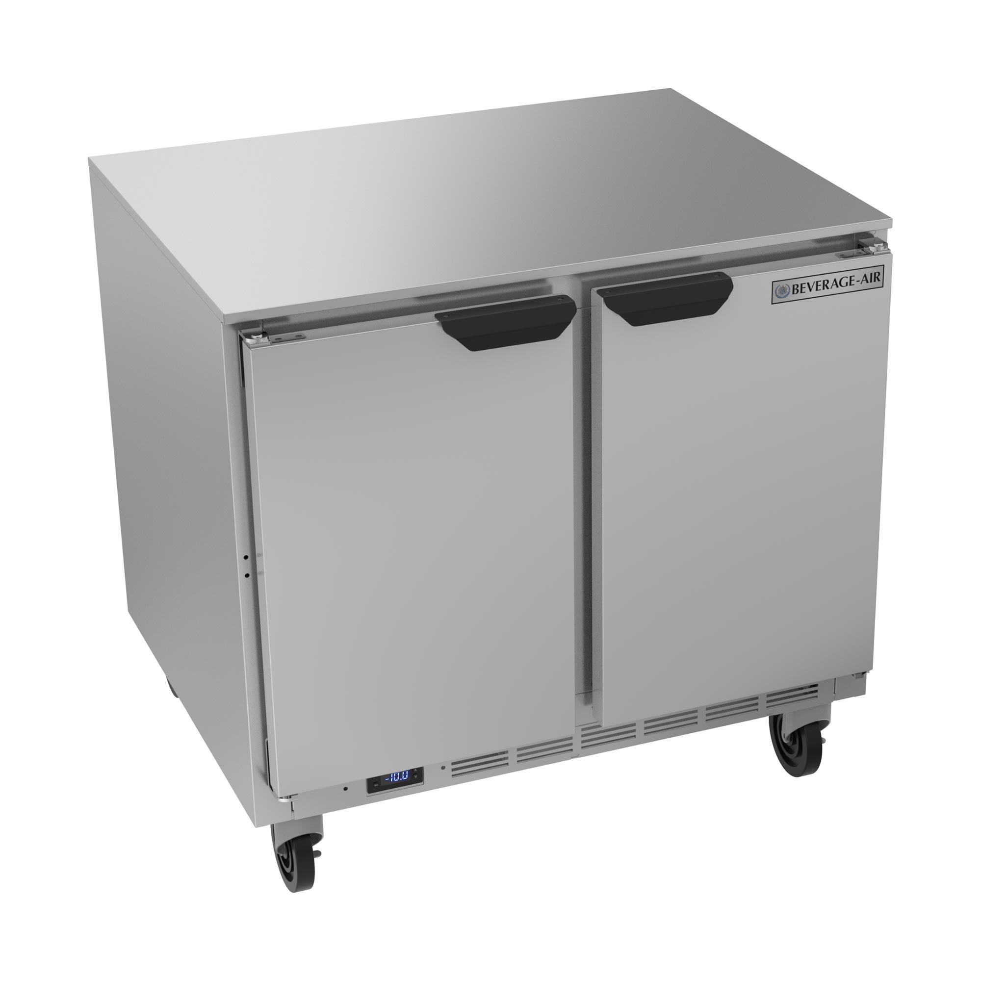 Beverage Air UCF36AHC 8.69-cu ft Undercounter Freezer w/ (2) Section & (2) Door, 115v