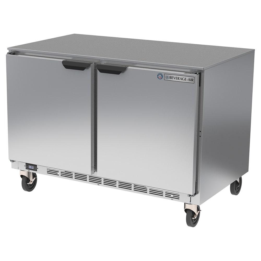 Beverage Air UCF48AHC 11.04 cu ft Undercounter Freezer w/ (2) Section & (2) Door, 115v