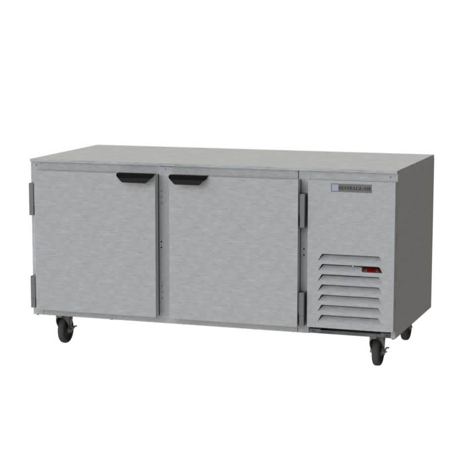 Beverage Air UCF67AHC 20.8-cu ft Undercounter Freezer w/ (2) Section & (2) Door, 115v