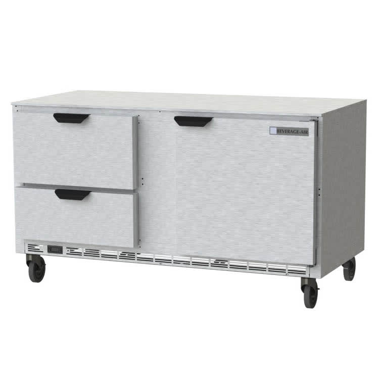 Beverage Air UCFD60AHC-2 17.1 cu ft Undercounter Freezer w/ (2) Section & (1) Door (2) Drawers, 115v