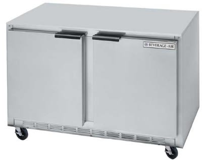 Beverage Air UCR48A23 13.9-cu ft Undercounter Refrigerator w/ (2) Sections & (2) Doors, 115v