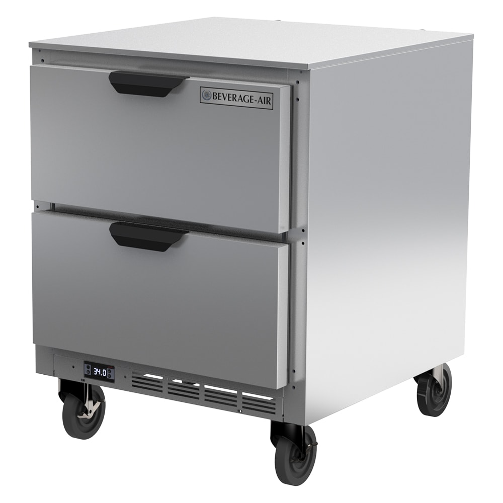 Beverage Air UCRD27AHC-2 7.3 cu ft Undercounter Refrigerator w/ (1) Section & (2) Drawer, 115v