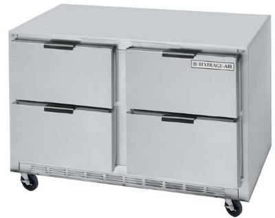 Beverage Air UCRD48A-4 13.9-cu ft Undercounter Refrigerator w/ (2) Sections & (4) Drawers, 115v