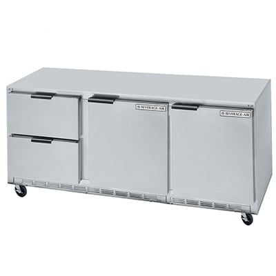 Beverage Air UCRD72A-2 21.5-cu ft Undercounter Refrigerator w/ (3) Sections, (2) Drawers & (2) Doors, 115v