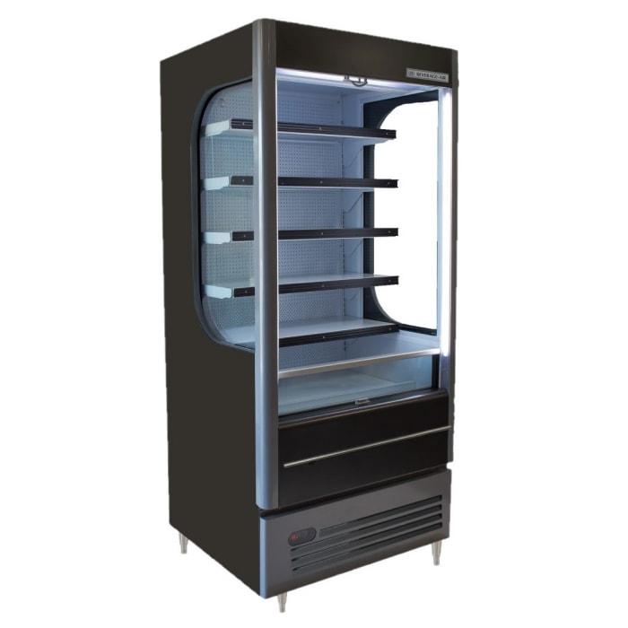 """Beverage Air VM12-1-B-LED 35"""" Vertical Open Air Cooler w/ (6) Levels, 115v"""