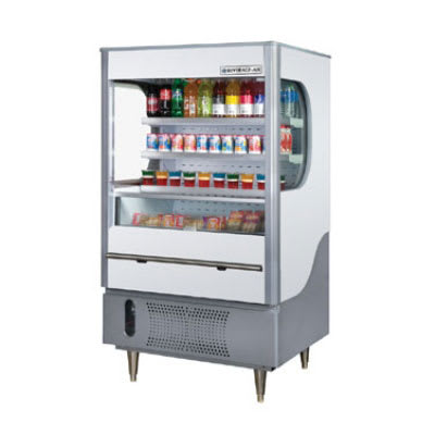 "Beverage Air VM12-1-G-LED 35"" Vertical Open Air Cooler w/ (4) Levels, 115v"