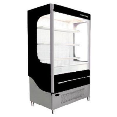 """Beverage Air VM18-1-B-LED 51"""" Vertical Open Air Cooler w/ (5) Levels, 115v"""