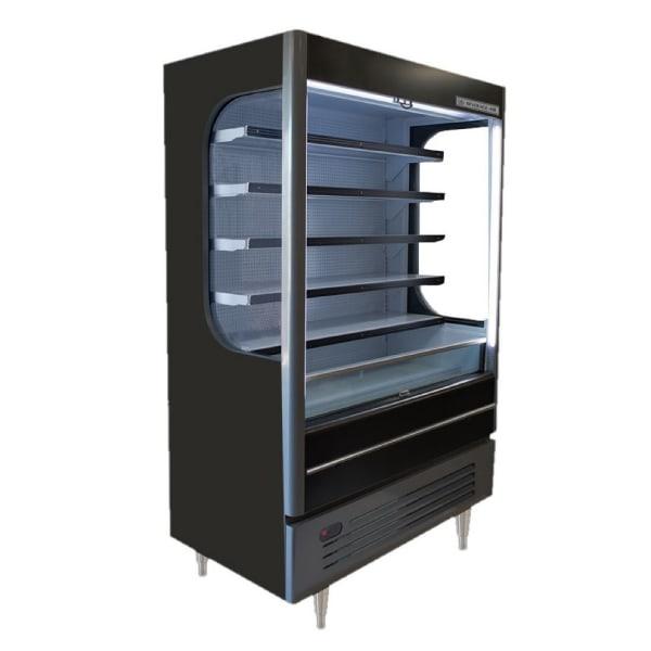 """Beverage Air VM18-1-B-LED 51.6"""" Vertical Open Air Cooler w/ (6) Levels, 115v"""
