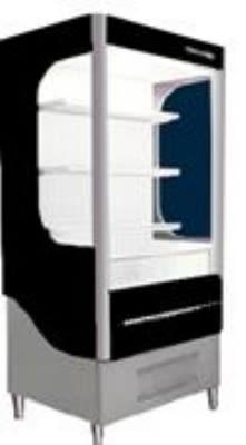 "Beverage Air VM7-1-B 35"" Vertical Open Air Cooler w/ (4) Levels, 115v"