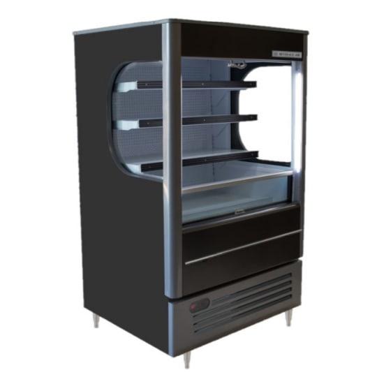"""Beverage Air VM7-1-B-LED 35"""" Vertical Open Air Cooler w/ (4) Levels, 115v"""
