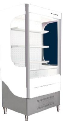 """Beverage Air VM7-1-W-LED 35"""" Vertical Open Air Cooler w/ (4) Levels, 115v"""