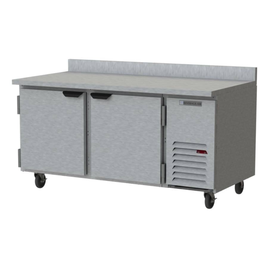 Beverage Air WTF67AHC 20.08 cu ft Work Top Freezer w/ (2) Section & (2) Door, 115v