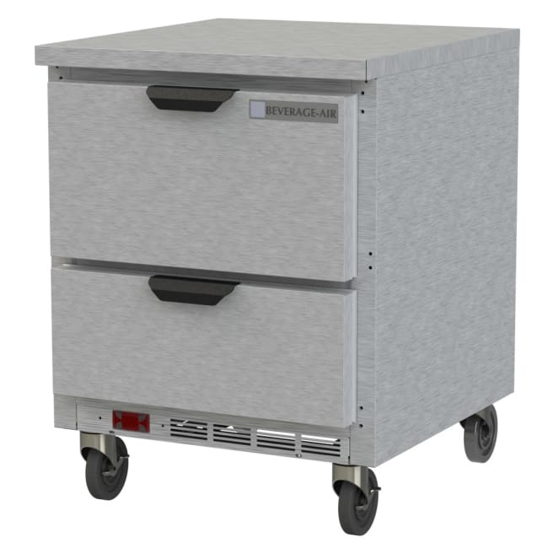 Beverage Air WTFD27AHC-2-FLT 6.03 cu ft Worktop Freezer w/ (1) Section & (2) Drawers, 115v