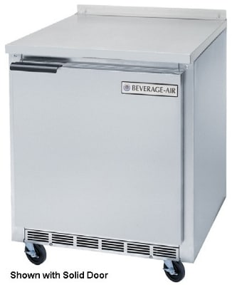 """Beverage Air WTR27A-24-23 27"""" Work Top Refrigerator w/ (1) Section, 115v"""