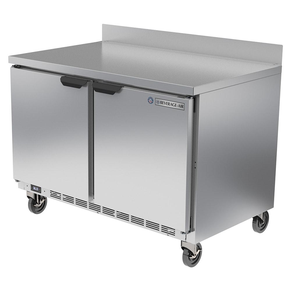 "Beverage Air WTR48AHC 48"" Worktop Refrigerator w/ (2) Section, 115v"