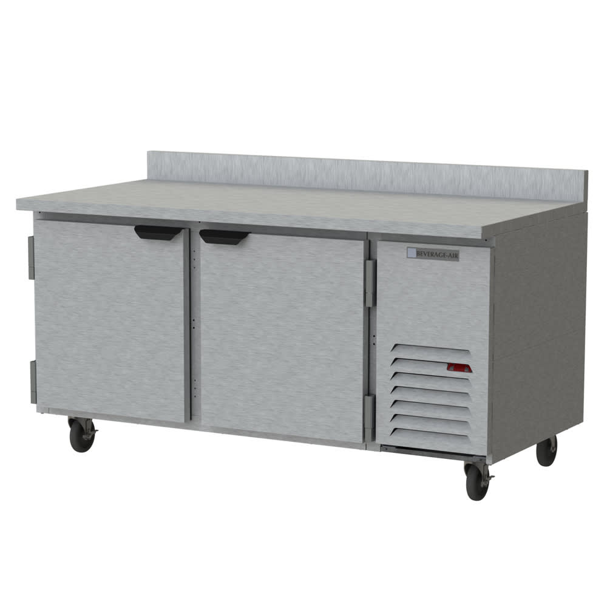 "Beverage Air WTR67AHC 67"" Worktop Refrigerator w/ (2) Section, 115v"