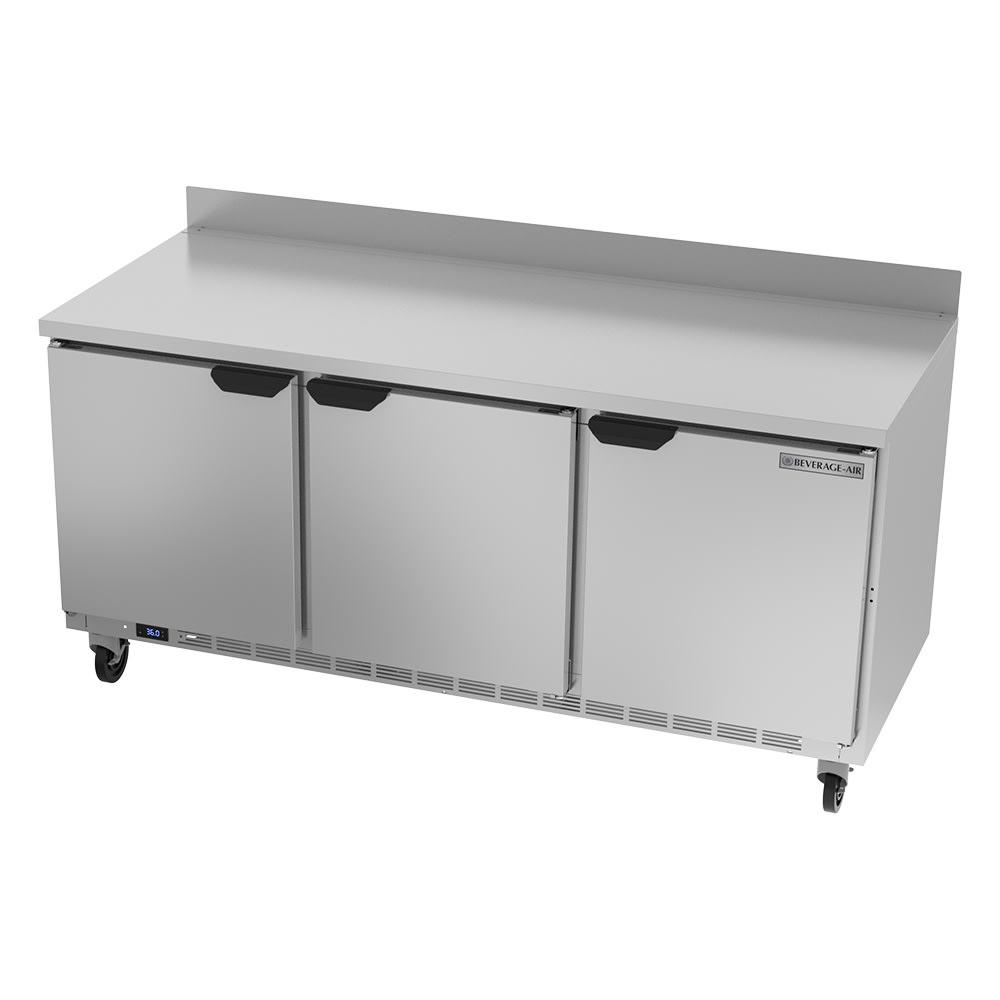 "Beverage Air WTR72AHC 72"" Worktop Refrigerator w/ (3) Section, 115v"