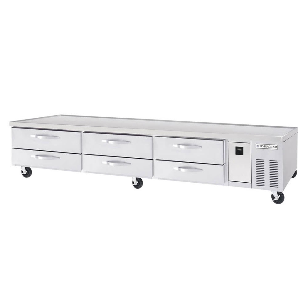 "Beverage Air WTRCS112-1 112"" Chef Base w/ (6) Drawers, 115v"