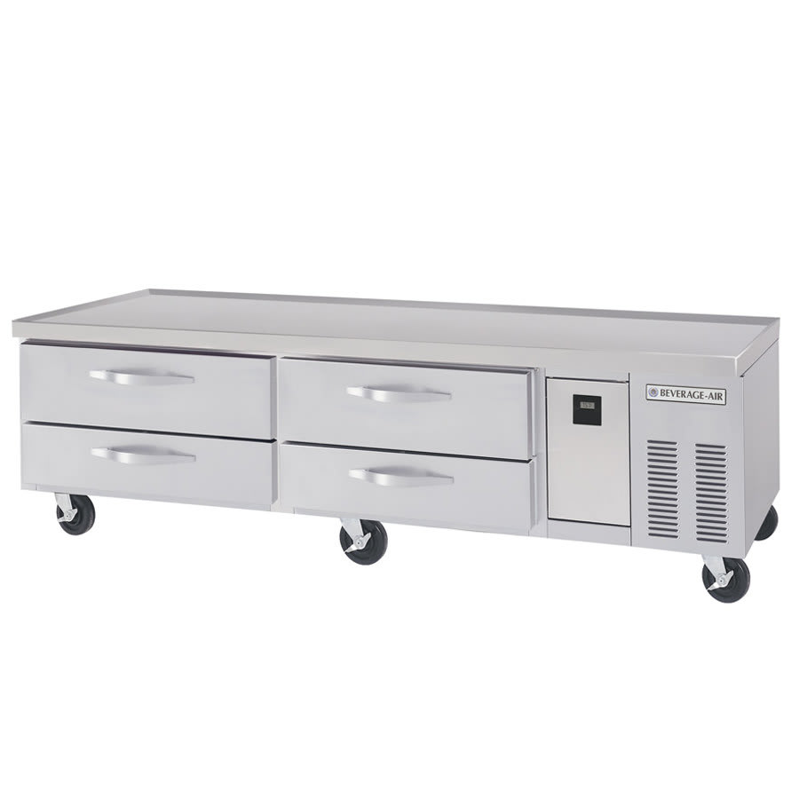 """Beverage Air WTRCS72D-1 72"""" Worktop Refrigerator w/ (2) Sections & (4) Drawers, 115v"""
