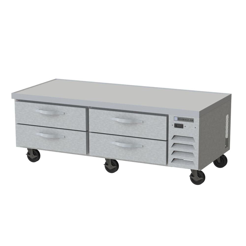 "Beverage Air WTRCS72D-1 72"" Worktop Refrigerator w/ (2) Section, 115v"