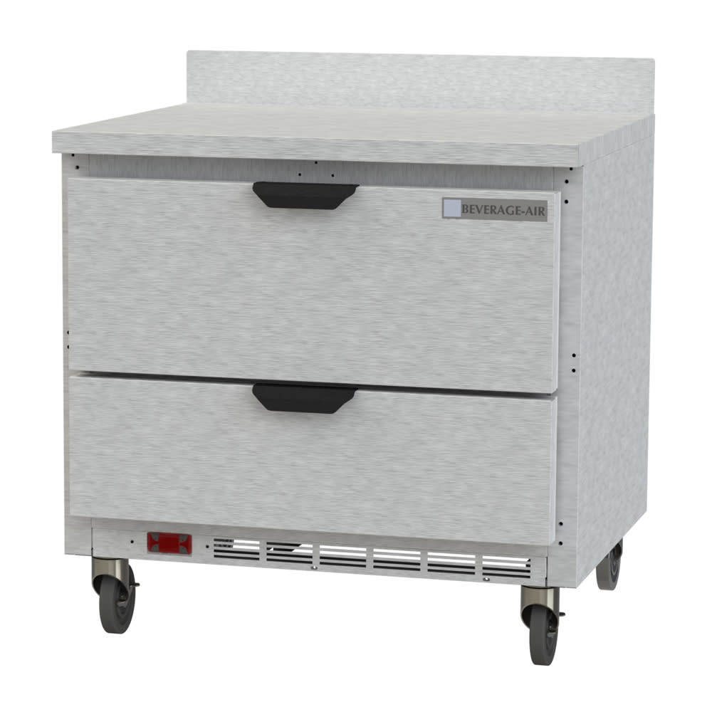 """Beverage Air WTRD36AHC-2 36"""" Worktop Refrigerator w/ (1) Section, 115v"""