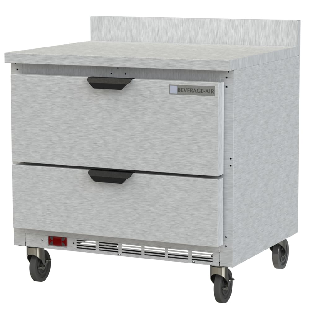 """Beverage Air WTRD36AHC-2-FIP 36"""" Worktop Refrigerator w/ (1) Section, 115v"""
