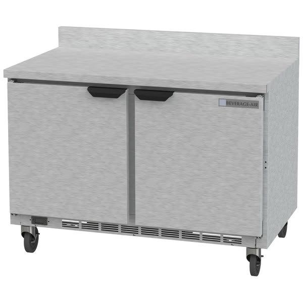 "Beverage Air WTRF48A-1-SA-A-FLT 48"" Worktop Refrigerator/Freezer w/ (2) Sections, 115v"