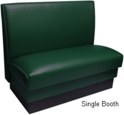 "Vitro KATOZ1NTCDBL4430 Double Restaurant Booth - Plain Back, Vinyl Seat, 44x36"", Red Wine"