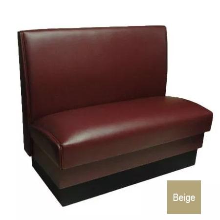 "Vitro MD-1000-SGL BGE Single Restaurant Booth - Smooth Back, Fully Upholstered, 36"" x 44"", Beige"