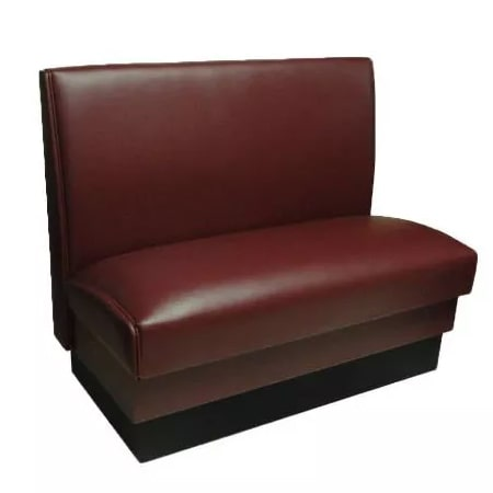 "Vitro MD-1000-SGL CBRY Single Restaurant Booth - Smooth Back, Fully Upholstered, 36"" x 44"", Cranberry"