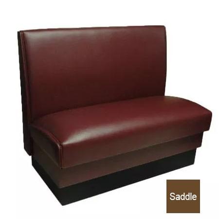 """Vitro MD-1000-SGL SAD Single Restaurant Booth - Smooth Back, Fully Upholstered, 36"""" x 44"""", Saddle"""